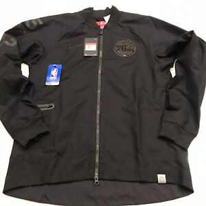 Nike Philadelphia 76ers Black Varsity Jacket Sixers Mens Sz Large 860826