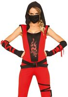 Sale Leg Avenue 85384 Ninja Assassin Rot Größe M Damen Kostüm Fasching Karneval