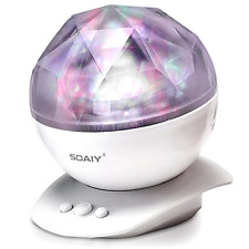 Baby Nursery Rotation Sleep Soothing Color Changing Aurora Night Light Projector