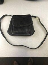 Liz Clairborne Leather Co. Black Real Leather Purse Handbag Shoulder BagKg X1