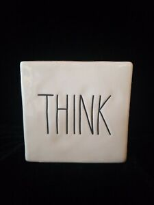 "Rae Dunn Inspiring Paperweight/Decorative ""Think"" ""Evolve"" New Without Tags"