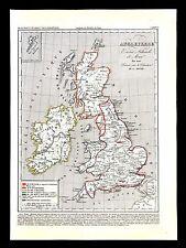 1849 Houze Map Great Britain 1100 England Ireland Scotland Isle of Man London