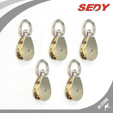 5 PC 20mm Single Pulley Swivel Eye Stainless Kirsite Pully Wheel Lifting Block