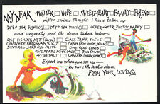 Holiday Greetings Postcard - Mermaid, Deep Sea Fishing, Deep Sea Diving  A6690