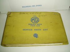 AKD1296 MGA TWIN CAM GENUINE FACTORY SERVICE PARTS LIST IN VERY GOOD CONDITION