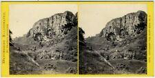 Stéréo Bedford circa 1870. Torquay - Watcombe - The giant rock. Devon. England.