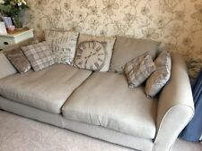 Large Deep 3 Seater Dfs Sofa Neutral Beige Colour Very Good Used Condition