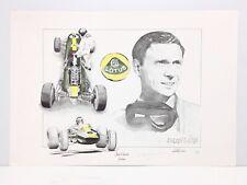 JIM CLARK LOTUS 33 Tribute by CHRIS DUGAN Signed Racing Art Print FORMULA 1 GP