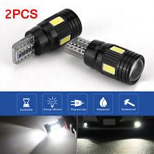 2PCS T10 12V Power White LED Daytime Fog Lights Bulb License Plate Light 6000K