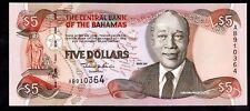 Bahamas. Five Dollars, AB910364, series 2001, Almost Uncirculated-Uncirculated.