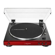 Audio Technica At-Lp60X Fully Automatic Belt-Drive Stereo Turntable (Red)