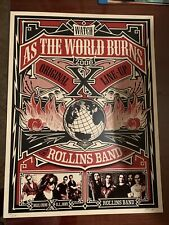 X / Rollins Band Poster Shepard Fairey Signed/Numbered 2006