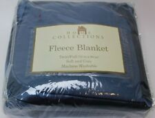 """Home Collections Fleece Blanket Twin Full 70"""" X 90"""" Soft Cozy Machine Wash Blue"""