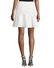 167ef23e5 BCBG Max Azria Amilya off White Gardenia Knit Bandage Flounce Skirt Size XS