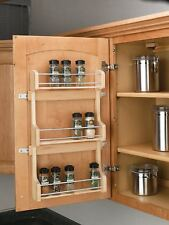 Rev-A-Shelf - 4SR-15 - Small Cabinet Door Mount Wood 3-Shelf Spice Rack