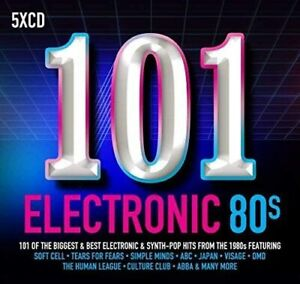 101 ELECTRONIC 80S (2017) 101-track 5-CD digipak NEW/SEALED ABBA Soft Cell