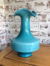 Large Empoli ? Holmegaard ? Scandinavian Vase Blue Teal