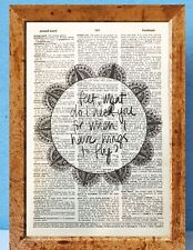 Frida Kahlo Quote art dictionary page art print vintage gift antique M56