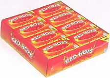 Red Hots Cinnamon Candy 24 Count Box Bulk Candies 24ct (1.22oz Packs) Redhots