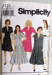 Princess Seam Church Teacher Dress Pattern 8121 Size 8 10 12 14 Simplicity
