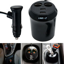 Dual USB Multi Voiture Allume-cigare Socket Splitter Chargeur Puissanc Adapter