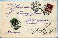 Svizzera -1919 - Lettera via aerea da Zurigo per Berna - Rara affrancatura