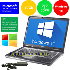 DELL LAPTOP LATiTUDE D630 WINDOWS 10 CORE 2 DUO 2.0GHz CDRW DVD WiFi NOTEBOOK PC