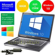 DELL LAPTOP LATiTUDE D630 WINDOWS 10 CORE 2 DUO 2.0GHz CDRW DVD WiFi NOTEBOOK PC