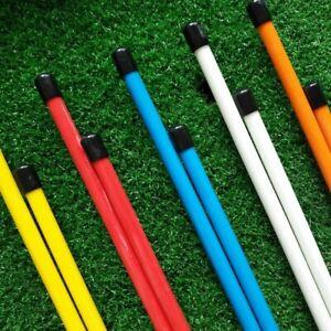 Golf Alignment Sticks Practice Speed 2 Pcs Training Aid Cover Putt Portable UK