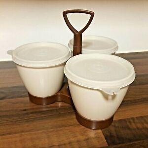 Tupperware Condiment Serving Caddy | 1970s Kitchen Storage Pot Carousel | Camper