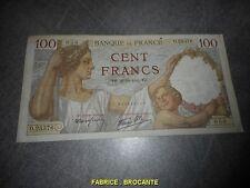 BILLET DE 100 FRANCS 1941 O.25376 SULLY