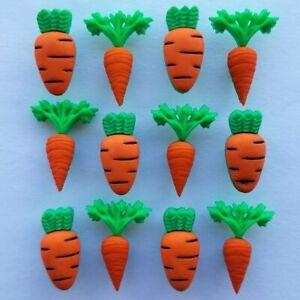 CARROT CROP Craft Buttons Easter Bunny Snowman Christmas Vegetables Dress It Up