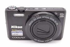 Nikon Coolpix S7000 16Mp 3''Screen 20x Zoom Digital Camera Black -No Accessories