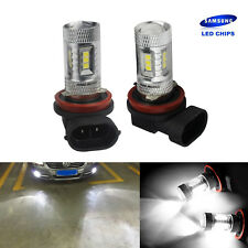 2X H8 H11 15 SMD SAMSUNG LED Bulb Sidelight Fog Light Lamp DRL For Audi BMW Ford
