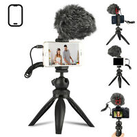 Smartphone Video Microphone Kit Tripod Stand Holder for DSLR Camera PC Camcorder