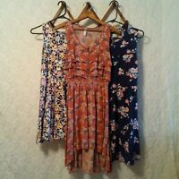 3pc Lot of Dresses Women's Sz M Xhileration Old Navy Sleeveless Floral Arrows