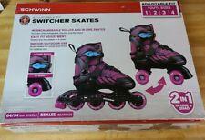 Brand New Schwinn Adjustable fit 2-in-1 Switcher Skates (Youth Sizes 1,2,3,4)