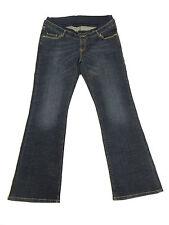T01326 Damen Schwanger Hose Jeans Bellybutton Gr. 44 Mod. Mary, blau Stretch