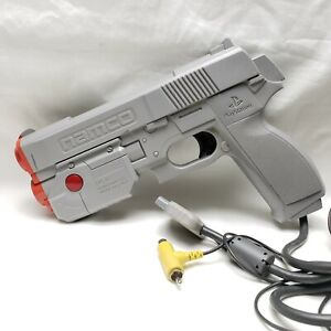 PS1 Namco NPC-103 Gray GunCon Controller Sony PlayStation One *HAS T SPLITTER*