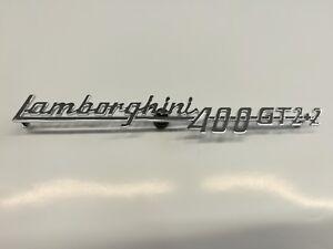 LAMBORGHINI 400 GT 2+2 Chromium metal script 210 mm. lenght