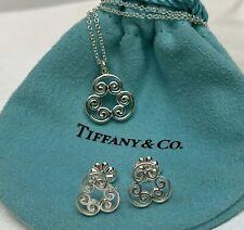 Tiffany & Co. Silver 925 Paloma Venezia Goldoni Triplo Earrings & Pendant Set
