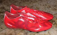 b4d4a4e58c9a ADIDAS F30 FG Solar Red Black Snakeskin Soccer Cleats Boots NEW Mens Sz 11