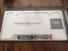 1 LAND ROVER EVOQUE license stainless plate frame OEM VPLVY0072 UNION JACK