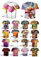 Colourful candy food 3D print women/men's T-Shirt Short Sleeve Casual Tops S-5XL