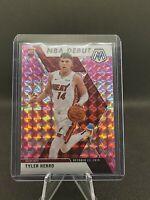 2019-20 Mosaic Tyler Herro Pink Camo Prizm NBA Debut Rookie RC Heat