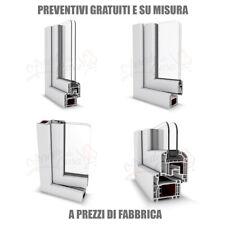 Infissi In Pvc Alluminio Su Misura Bianco O Colorato Porte Finestre Scorrevoli