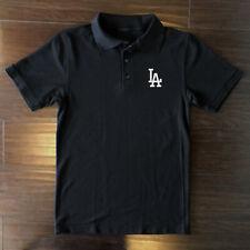 Los Angeles Dodgers Polo T-Shirt Graphic Cotton Logo Adult Men LA LAD Golf