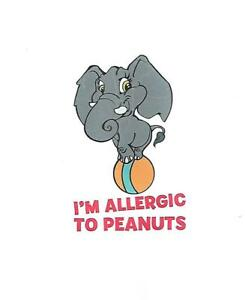 5 x I'm allergic to Peanuts - Kids Temporary Tattoos - Great safely precaution