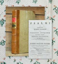 1794 Psalter Psalmen kritische Ausgabe von Johann August Dathe Psalmi
