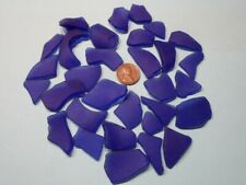 Sea Glass---Blue---Surf Tumbled---Circa 1950's thru  1990's